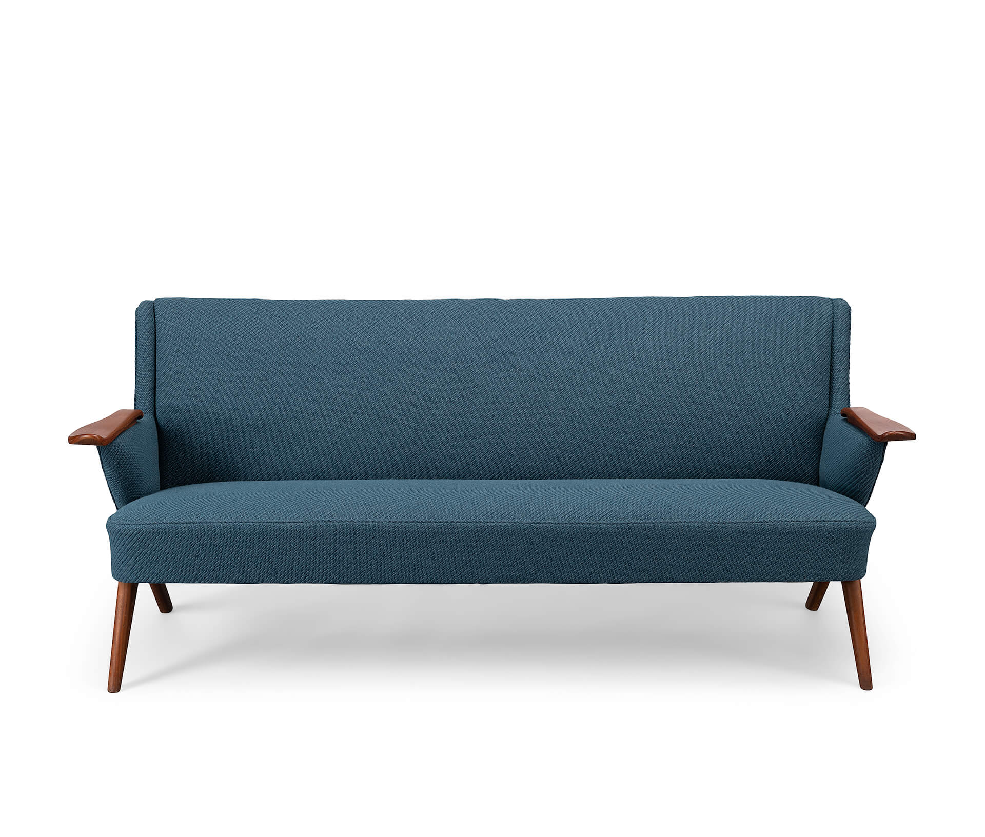 Edgy petrol blue sofa